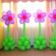 Decoración de Globos forma de Flor