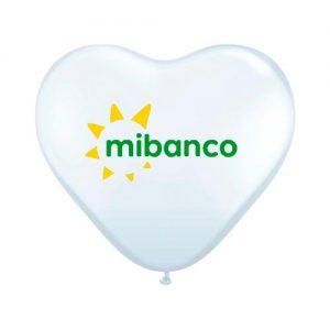 Globo Corazón Blanco