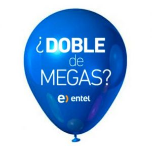 Globo Doble de Megas Entel