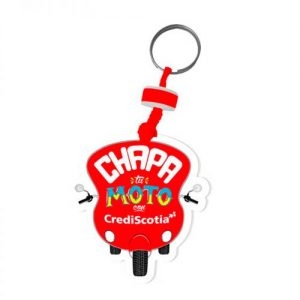 Llavero Microporoso Chapa Tu Moto CrediScotia
