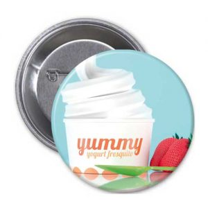 Pin Publicitario Yogurt