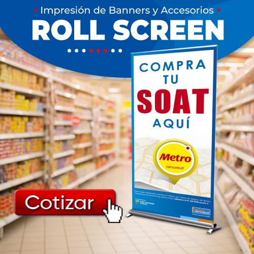 Impresión de Banners en Lima Roll Screen