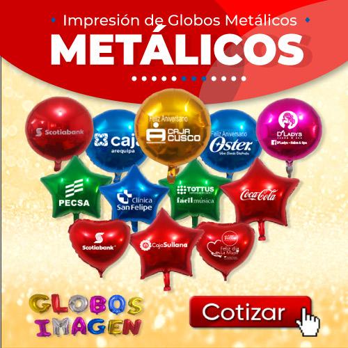Impresion de Globos Metalicos en Peru